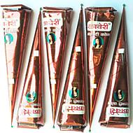4 шт натуральных травяных хной конусов боди-арт Mehandi чернил Jagua временную татуировку комплект