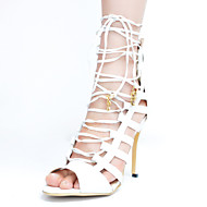 Women's Shoes Leatherette Stiletto Heel Peep Toe / Gladiator Sandals Party & Evening / Dress / Casual White