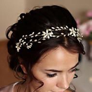 Bride's Flower Shape Imitation Pearl Forehead Wedding  Headbands  Accessories 1 PC