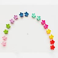 mini-pequena flor pequena cocar clipe edição han crianças fosco bater pequena garra cabelo escuro misturado 10 / grupo