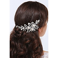 Women's Sterling Silver / Alloy Headpiece-Wedding / Special Occasion / Casual Headbands 1 Piece Clear / Ivory Round