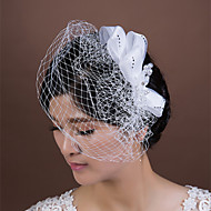 Women's Satin/Rhinestone/Crystal/Imitation Pearl/Net Headpiece - Wedding/Special Occasion Birdcage Veils 1 Piece