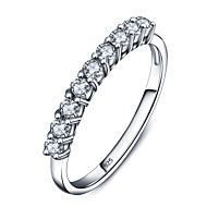925 Sterling Silver Women Jewelry Top Grade Classic Cubic Zirconia Setting Ring Perfect Gift For Girls