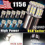 10 x nya vita 1156 rv camper trailer 50 SMD LED 1141 1003 inre glödlampor