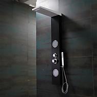 Duscharmaturen - Zeitgenössisch - Wasserfall / Regendusche / Seitendüse / Handdusche inklusive - Edelstahl ( Korrektur Artikel )