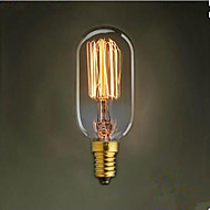 T45 Straight Wire E14 220 V Small Screw Retro Light 40 W