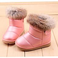 Koženka Kožešina-Módní boty-Dívčí-Růžová Bílá-Outdoor Šaty Běžné-Plochá podrážka