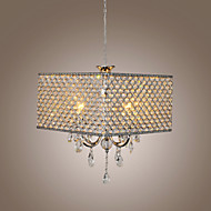 Max 60W Chandelier ,  Modern/Contemporary / Drum Painting Feature for Crystal Metal Living Room / Bedroom / Dining Room