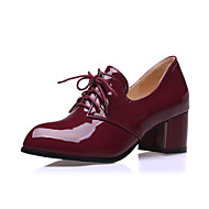 Women's Shoes Patent Leather Chunky Heel Heels/Pointed Toe Oxfords Casual Black/Beige/Burgundy
