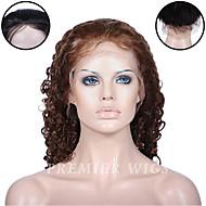 premierwigs 8 '' - 24 '' Európai szűz hullámot teljes csipke emberi haj paróka selyem alap csipke első paróka fekete nők számára