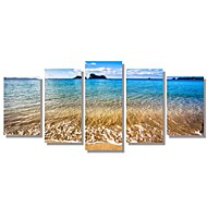 5 Panels  Beach Picture Canvas Print Seascape Picture Wall Art Decoration Unframed