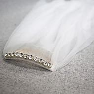 Bryllupsslør To-lags Fingerspids Slør Skær Kant 45,28 i (115cm) Tyl Hvid Elfenben