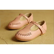 Girls' Shoes Casual Mary Jane Leather Flats Black / Pink