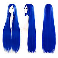 Ferien Mode Must-Have girl blue Qualitäts langen glatten Haaren Perücke