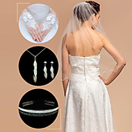 accessoires de mariage set (voile& gants& coiffure& collier& boucles d'oreilles)