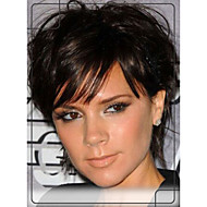 Stylish Deep Human Hair Capless Wigs Virgin Remy Mono Top Short Wavy Hair Wig