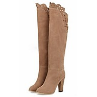 Women's Shoes Fleece Chunky Heel Fashion Boots Boots Office & Career / Dress / Casual Brown