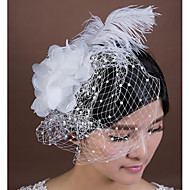 Women's Feather/Chiffon/Net Headpiece - Wedding/Special Occasion Birdcage Veils 1 Piece