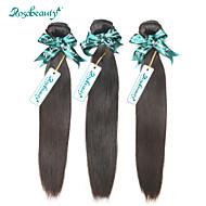 """brasilianskt remy virgin hår rakt 3st / lot obearbetade naturliga färg människohår väft 8 """"-30"""" högsta kvalitet hår"""