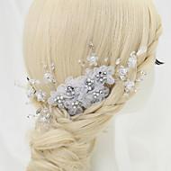 Women's/Flower Girl's Rhinestone/Alloy/Chiffon Headpiece - Wedding/Special Occasion Hair Combs 1 Piece