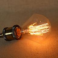 מנורת E27 הנורה אדיסון 40W יהלומי g95 תיל ישר lo הגדול תליון בר עם מקור אור רטרו
