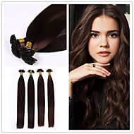 "18""-28"" Brazilian Virgin Hair Flat Tip Hair Extension 1g/strand 50g/pack Fusion Hair Extension"