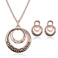 Schmuck 1 Paar Ohrringe Halsketten Strass Hochzeit Party Aleación 1 Set Damen Goldfarben Hochzeitsgeschenke