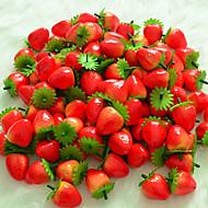 6 db szimulációjának eper gyümölcs műanyag gyümölcs művirágok