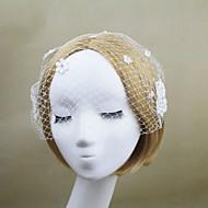 Women's Net Headpiece - Wedding/Party Flowers Birdcage Veils 1 Piece