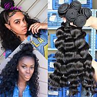 3шт ткет много 5a необработанные Перу девственница волос свободная волна расширения человеческих волос натуральный черный волос