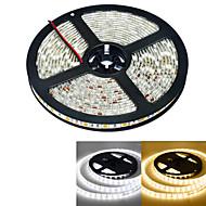 JIAWEN® Waterproof 5M 300-5050 SMD 4800lm 3000-3200K / 6000-6500K Warm White / white Light LED Strip Light  (DC12V /5M)
