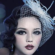 נשים תחרה / נוצה / שיפון כיסוי ראש-חתונה / אירוע מיוחד / חוץ קישוטי שיער / פרחים / Birdcage Veils חלק 1