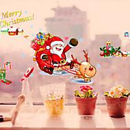 Santa Claus PVC Wall Stickers  Christmas Decoration