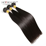 Brazilian Virgin Hair Straight 3 Bundles 100g/pcs Cheap Brazilian Hair 100% Human Hair