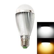 HESION® HS01007A E27 7W 630lm 3500K/6000K 7-LED Warm White/Cool White  Light Bulb - Silver (85~265V)