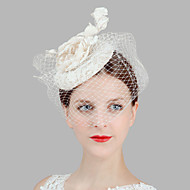Women's Satin/Feather/Net Headpiece - Wedding/Special Occasion Birdcage Veils 1 Piece