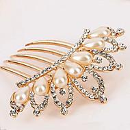 Coréia do Sul ornamentos de alta qualidade em pentes de cabelo fecho pérola do diamante coroa torção