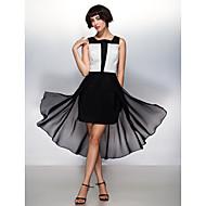TS couture® 칵테일 파티와 함께 온라인 광장 비대칭 쉬폰 드레스