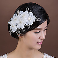 Women's Tulle/Imitation Pearl Headpiece - Wedding/Special Occasion Flowers 1 Piece