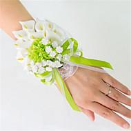 Svatební kytice ručně vázané Lilie Živůtek na zápěstí Svatba Párty / večerní akce Satén Elastický satén