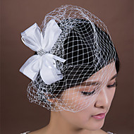 Women's Satin/Rhinestone/Net Headpiece - Wedding/Special Occasion Birdcage Veils 1 Piece
