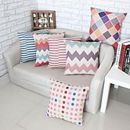 Set of 6 Geometric Patterns Pillowcase Sofa Home Decor Cushion Cover (18*18 inch)