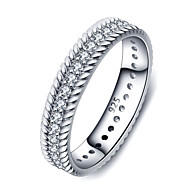 925 Sterling Silver Women Jewelry Top Grade Cubic Zirconia Setting Ring with White Gold Plated Perfect Gift For Girls
