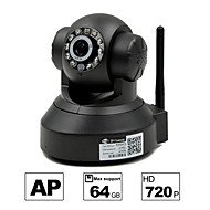 besteye® hd1280 * 720p h.264 wifi ip camera 1.0m PTZ ir nachtzicht bedrade / wirless 64GB TF-kaart