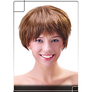 Sparkling Human Hair Capless Wigs Virgin Remy Short Straight  Mono Top Hair Wig