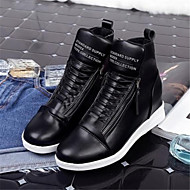 Women's Shoes Wedge Heel Round Toe Fashion Sneakers Casual Black / White