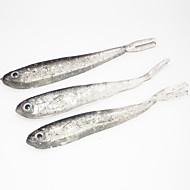 Anmuka Soft Bait 10Pcs/Lot 2.4grams 7cm Soft Silicone Tiddler Bait Fluke Fish Fishing Saltwater Fish Lure