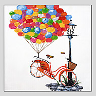 Oil Painting Modern Colorful Balloons , Canvas Material With Stretched Frame Ready To Hang 70*70CM.