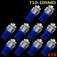 10 개 울트라 블루 360 T10 웨지는 자동차 돔지도화물 인테리어 10 SMD는 빛을 주도