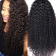 """sin procesar 10 """"-24"""" color virginal brasileña del pelo natural, rizado rizado 130% peluca del frente del cordón densidad enrollamiento"""